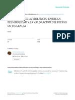 Prediccion de La Violencia Entre La Peligrosidad y