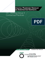 The Ita Contractual Frameworks Checklist for Subsurface Construction Contracts- ITAAITES WG9- Abril- 2011
