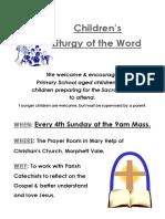 childrens liturgy poster