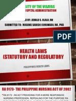 Health Laws (Statutory and Regulatory