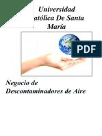 Negocio de Descontaminadores de Aire (Gestion Administrativa-gestion Ambietal-gestion Social)