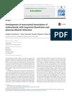Artigo - Development of Nanocrystal Formulation