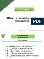 Tema 1 - Introducción a La Administración y Las Organizaciones