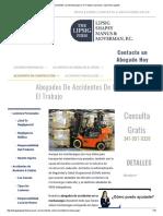 Accidentes Con Montacargas en El Trabajo _ Lesiones y Opciones Legales