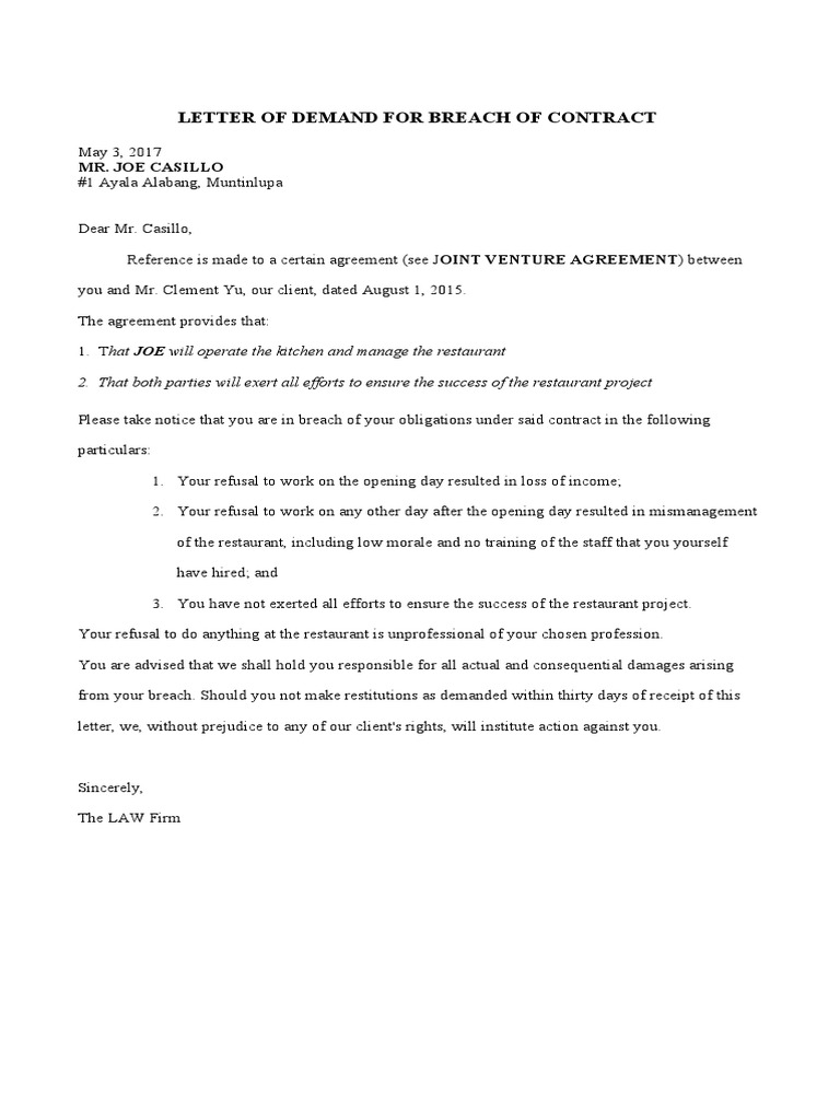 Violation Of Lease Agreement Sample Letter from imgv2-2-f.scribdassets.com