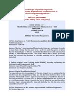 BBA502 - Financial Management
