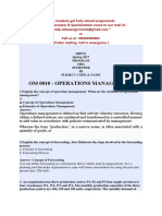 Om0010 - Operations Management