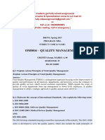 Om0016 – Quality Management