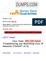 New Flydumps 300-135 Dumps PDF - Troubleshooting and Maintaining Cisco IP Networks (TSHOOT v2.0)