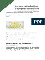 Clima Seco Estepario de La República Dominicana
