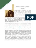 Biografia de Henri Toulouse