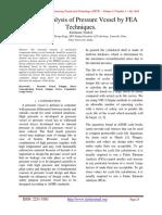 Fatigue Assessment IJETT-V13P205