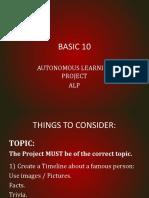 Basic 10 Project