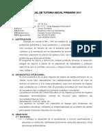 Plan de Tutoria 2011