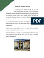 Proyectos de Ingeniería en Junín