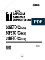 Yamaha 50 GETO Parts Catalog