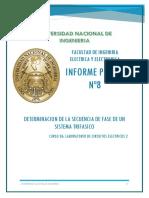 DETERMINACIÓN DE LA SECUENCIA DE FASE DE UN SISTEMA TRIFASICO