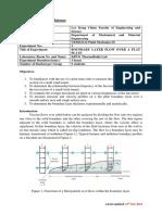 UEME 3112 Boundary Layer Flow