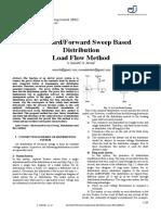 Backward_Forward Sweep Based Distribution Load Flow Method