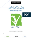 Producing More Rice With Less Water From Irrigated Systems