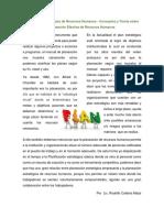 Reporte de Plan Estrategico de Recursos Humanos - Numerales 1, 2, 3