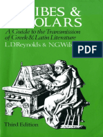 L. D. Reynolds, N. G. Wilson Scribes and Scholars A Guide to the Transmission of Greek and Latin Literature  .pdf