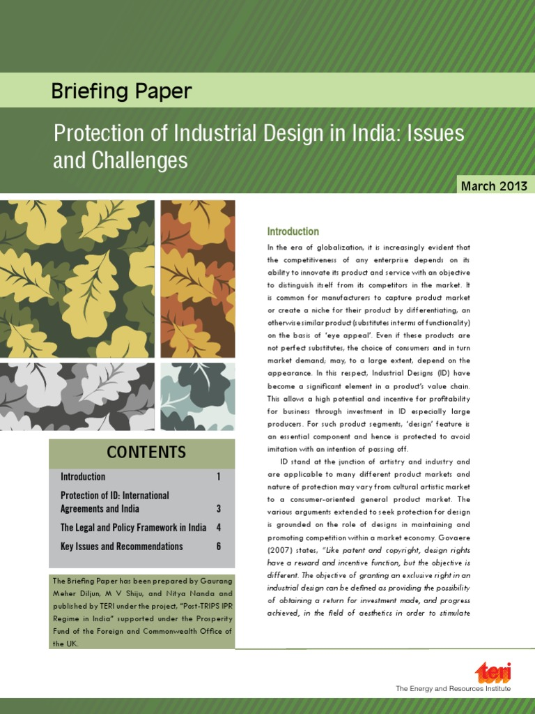 Briefing Paper Industrial Designs | Intellectual Property | Trips ...
