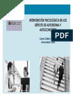 Intervencion Psicologica en Deficit de Autoestima Carlos Guillen Gestoso Uca 2011