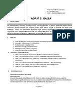 Adam B. Galla Resume 2017