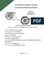 Plan de studiu, specialitatea Drept, ASEM
