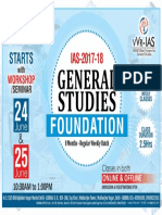 Prelims-cum-Mains Foundation Batch for IAS GS-2018