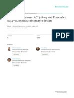 Comparison ACI_EC2 - Flexural Concrete Design