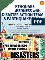 New Earthquake Preparedness With DAT & EQ Drill