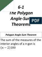 6-1 the Polygon Angle-Sum Theorems