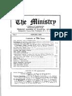 Ministry Magazine January 1928