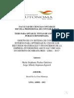 Diseño de CONTROL INTERNO Para Optimizar El Uso de Los Recursos Materiales y Financieros de INVER