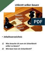 Schach Brett Selber Bauen