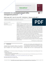 evaluation of a laryngopharyngeal reflux management protocol