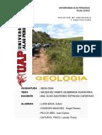 Informe de Salida de Campo a La Quebrada de Huancaro