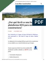 ¿Por Qué Revit Es Una Buena Plataforma BIM Para Una Constructora_ – Lean Bim Construction