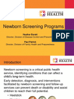 Newborn Screening Programs in Utah