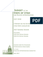 2017-2018 Budget of the State of Utah and Related Appropriations