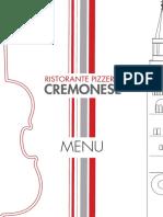 Menu Cremonese