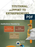 Institutional Support for Entrepreneures