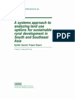 A Systems Approach to Analyzing Land Use Options or Sustainable Rural Development in South and Southeast Asia