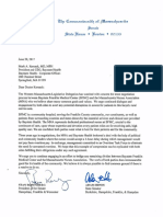 Senators Hinds and Rosenberg send a letter June 20 to Baystate Health about negotiations