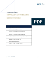 Unit 4- Paraphrasing STUDENT Booklet