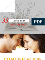 35 LEMAS PARA MATRIMONIOS - COMUNICACION