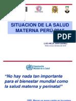 1. Situacion Salud Materna Setiembre 2015