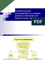 """Transformaciones socio-espaciales en ciudades grandes e intermedias del sistema urbano nacional"""" -3-"""